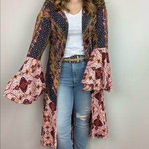 Mysterious Ways Kimono Duster S M L XL 1X 2X Umgee
